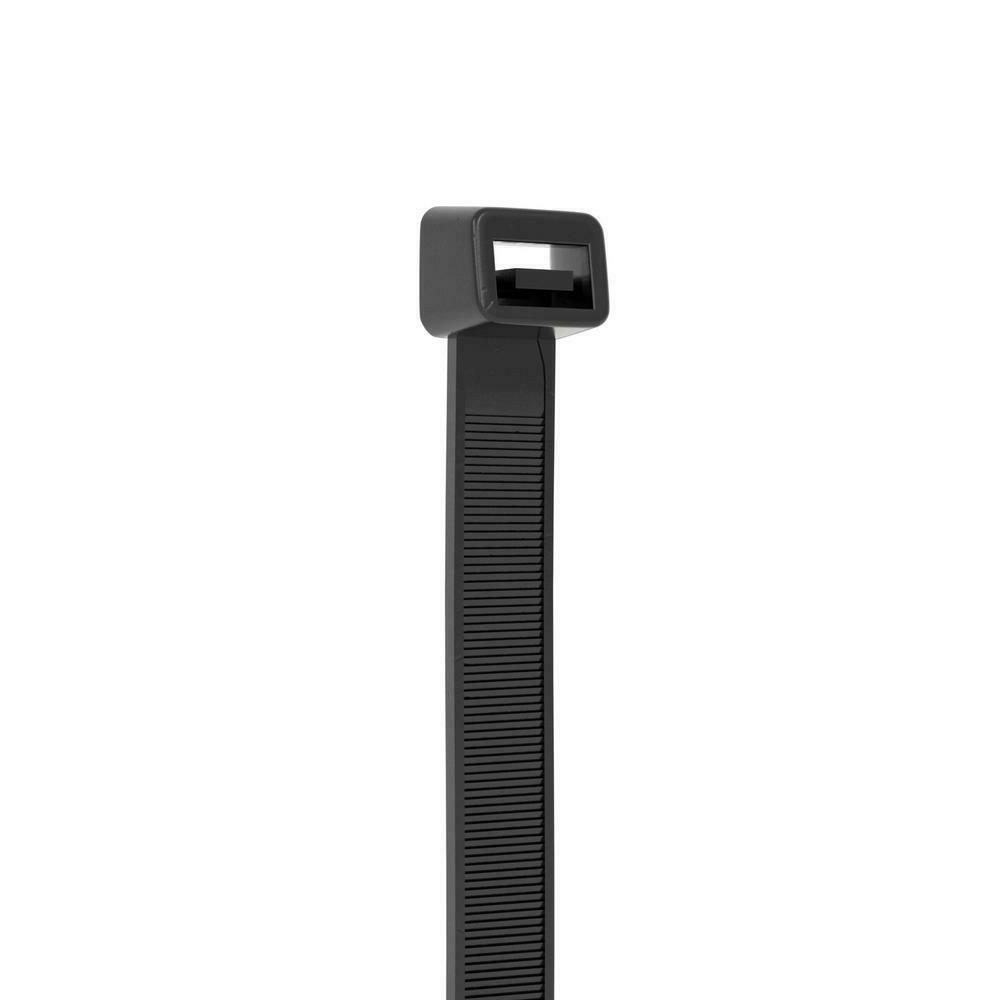 Commercial Electric UV Cable Ties Zip Black 500