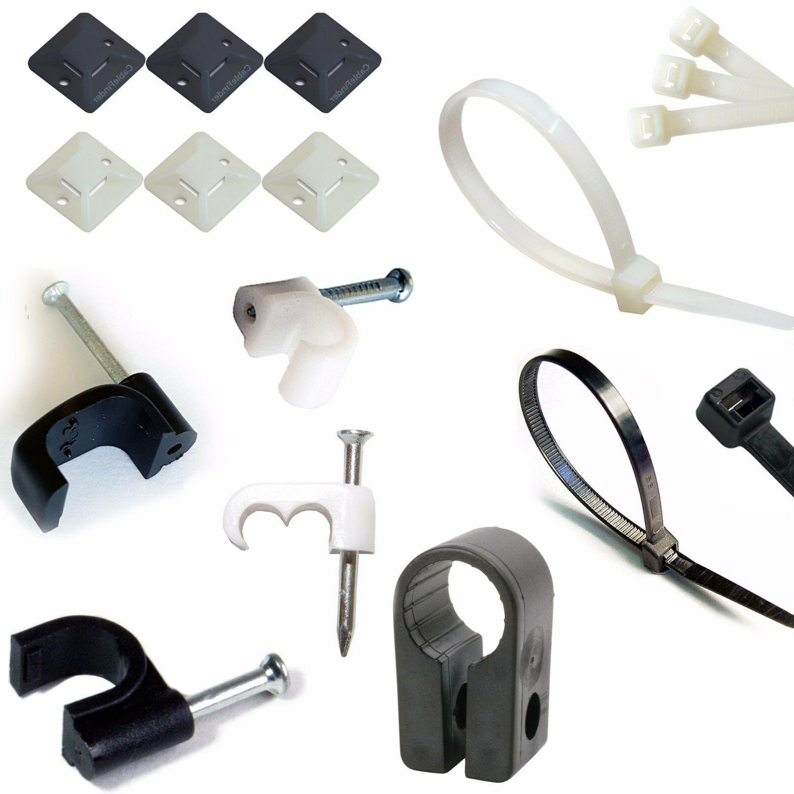 various sizes lengths cable ties clips cleats