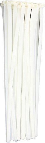 "12"" White 120lb  Zip Ties, Choose Size/Color, By Bolt Droppe"