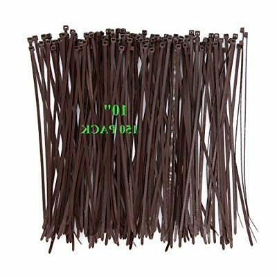 Wide Inch Pack Strong Wood Brown Color Durable Cable Zip