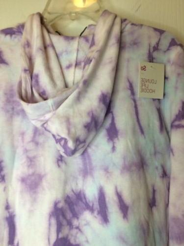 Women's up hoodie Size large Tie NWT