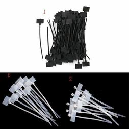 Labeling Id Cable Ties 100x Nylon Cord Zip Wire Sticker Mark