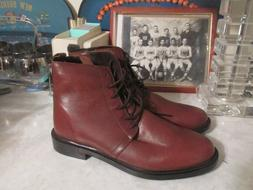 Urban Outfitters lace up side zip ankle leather  Boots Size
