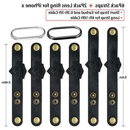Leather Cable Ties Organizer Cord Management,  Agvee Earphon
