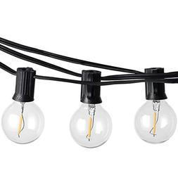 Outdoor LED String Lights Dimmable - 23Ft G40 Globe Bulbs, E