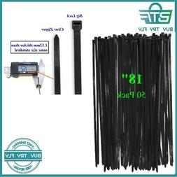 Long Wide 18 Inch Nylon Zip Cable Ties-Large 120LB Tensile S