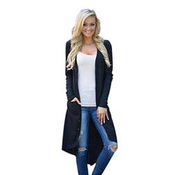 LISTHA Women Loose Sweater Long Sleeve Knitted Cardigan Outw