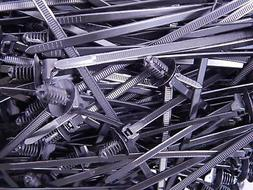 Lot of 1000 Hellermann Tyton 157-00097 Black Zip Ties Aprox