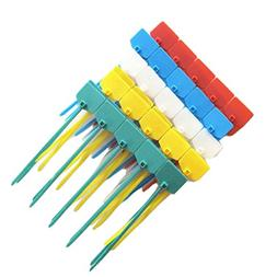 Amgate 100 Pcs 4 Inch Marker Nylon Cable Ties Write on Ether