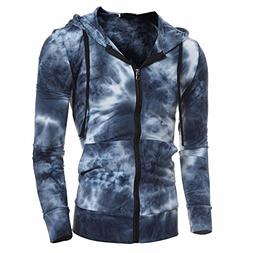 Charberry Mens Casual Hooded Zip Top 2018 Newest Autumn Wint