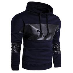 Hot Sale !Charberry Mens Set of Split Leather Hooded Sweater