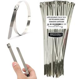 1bdc9d98549d Cable Ties Aroma Trees 100 pcs Metal Zip Ties 11.8 304 Stainless Steel  Exhaust Wrap Coated Locking Cable