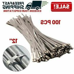 Metal Zip Ties Exhaust Wrapping Locking Cable Straps Header