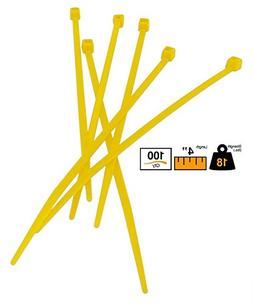 """BuyCableTies 4"""" Miniature Style Indoor Cable Ties - 18 lb Ra"""