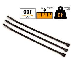"""BuyCableTies 4"""" Miniature Style Indoor/Outdoor Cable Ties -"""