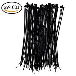100 Pcs Self-locking Nylon Cable Ties 7.87 Inch Pack Heavy D