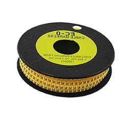 Uxcell N Letter Flexible EC-0 3.5mm Cable Tie Markers, 1000