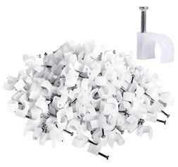 Darller 200 Pack Nail in Cable Clips Ethernet Cable Nails Ta