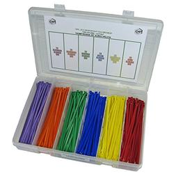 NEF Cable Tie Assortment, 6 Assorted Colors, 7 Inch, 300 Pie