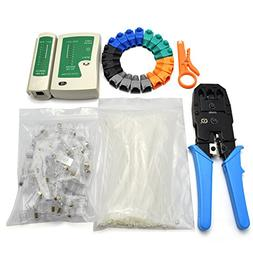 Maxmoral 6 in1 Network Tool Kit - Cable Connectors Crimper,