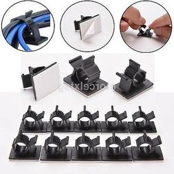 New 3M Adhesive Backed Nylon Wire Cable Clips Clamp Clamps A