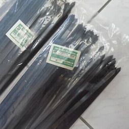 """NEW LOT 150 GREENLITE Black 28"""" inch Wire Cable Zip Ties Nyl"""