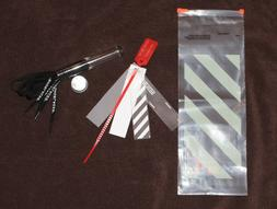 Nike x Off-White ZIP TIE TAG and black shoelaces with origin