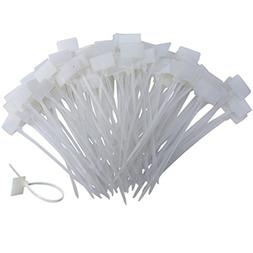 Huouo 200 PCS 4 Inches Nylon Cable Ties Self-Locking Cord Ta
