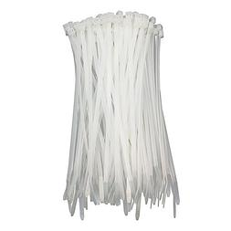 HS White Nylon Cable Ties 12in Zip Ties  50 LBS Clear Zip Ti