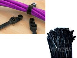100pc Nylon Cable Wire Zip Ties Mounting Hole Nail Screw  50