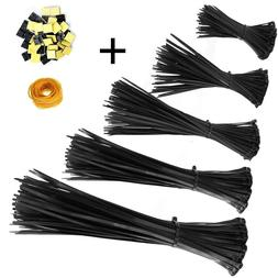 ZesGood Nylon Cable Zip Ties, 4 6 8 10 12 Inches, 500 Pieces