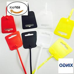 Xingo 10 Inch Nylon Marker Cable Ties with Cable Tag