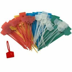Huouo 50 PCS 5 Inches Nylon Marker Cable Ties Self-Locking C