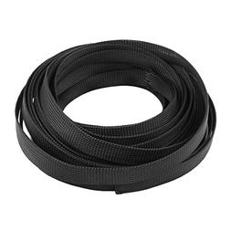 uxcell Nylon Mesh Rigging Conduit Flex Braided Expandable Sl