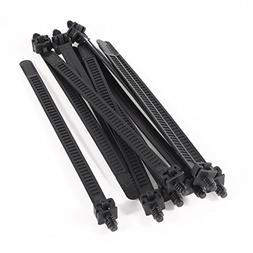 Uxcell Nylon Square Top Push Mount Cable Ties, 151mm x 8mm,