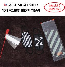 Off white face mask arrow striped with red zip tie bag ayo a