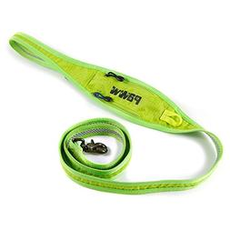 Paww Pick Pocket Leash, 5-Feet, Green