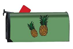 DREES Pineapples Painting Mailbox Cover Rust-Proof Mail Bo