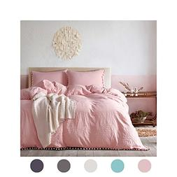 MOVE OVER 3 Pieces Pink Bedding Light Pink/Peach Duvet Cover