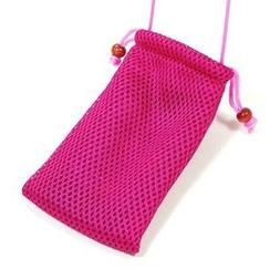 Cosmos Hot Pink Fashionable Grid Breathable case bag pouch/