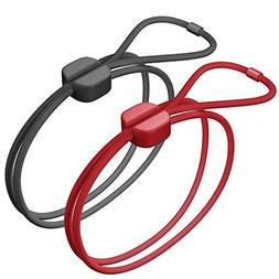 Bluelounge Pixi Large Black, Red 4pcs cable and cable clamps