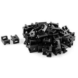 uxcell Plastic Cable Tie Wrap Base Saddle Mounts 60 Pcs Blac