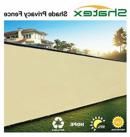 Shatex Pro Security & Privacy Windscreen ,Tan,8x10FT with Gr