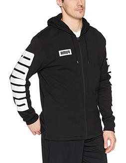 PUMA Men's Rebel Full Zip Hoodie French Terry, Cotton Black,