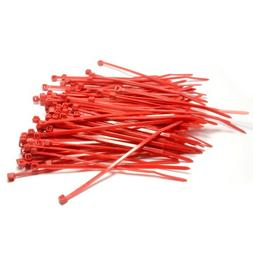 Kenable Red Cable Ties 100mm x 2.5mm Nylon 66 UL Approved Pa