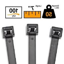 "BuyCableTies 7"" Releasable Indoor/Outdoor Cable Ties - 50 lb"