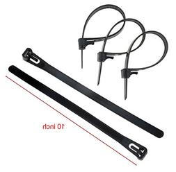 "CHHR 10"" 8"" 6"" Releasable Reusable Plastic Zip Cable Tie Wra"