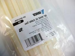 """NEW RETAIL - 100 PACK of 36"""" in inch - NATURAL  CABLE ZIP TI"""