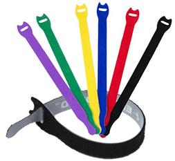 "Reusable Cable Ties 1/2"" x 8"" for Cable Management and Organ"