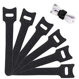Reusable Cable Ties Management Straps - 6 Inch Strong &Micro